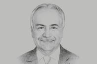 Sketch of <p>Anis Aclimandos, President, American Chamber of Commerce in Egypt</p>