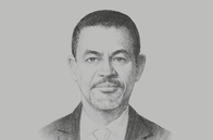 Sketch of <p>Khalid Elgibali, Division President, Mastercard Middle East and North Africa</p>