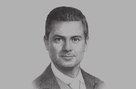 Sketch of <p>President Enrique Peña Nieto</p>