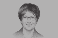 Sketch of <p>Brigitte Zypries, Federal Minister of Economic Affairs and Energy of Germany</p>