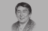 Sketch of <p>Shinzo Abe, Prime Minister of Japan</p>