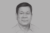 Sketch of <p>President Rodrigo Duterte</p>
