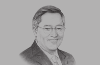 Sketch of <p>Carlos G Dominguez III, Secretary, Department of Finance</p>