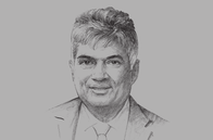 Sketch of <p>Prime Minister Ranil Wickremesinghe</p>