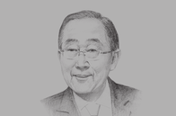 Sketch of <p>Ban Ki-moon, Former Secretary-General, UN</p>