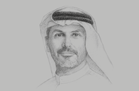 Sketch of <p>Khaldoon Khalifa Al Mubarak, CEO and Managing Director, Mubadala Investment Company</p>