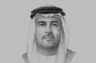 Sketch of <p>Ali Majed Al Mansoori, Chairman, Abu Dhabi Department of Economic Development (ADDED),</p>