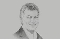 Sketch of <p>Mauricio Macri, President of Argentina</p>
