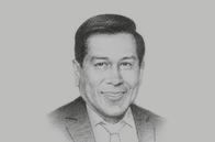 Sketch of <p>Walker San Miguel, Secretary-General, Andean Community (Comunidad Andina, CAN)</p>