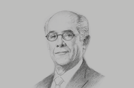 Sketch of <p>Ricardo Luna Mendoza, Minister of Foreign Affairs</p>