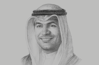 Sketch of <p>Mohammad Y Al Hashel, Governor, Central Bank of Kuwait (CBK)</p>
