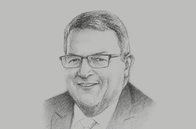 Sketch of <p>Gerry Brownlee, Minister of Foreign Affairs of New Zealand</p>