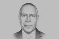 Sketch of <p>Thomas Abe, Managing Director, Kumul Consolidated Holdings (KCH)</p>
