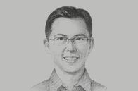 Sketch of <p>Ben Ng, President Director, AIA Financial Indonesia</p>