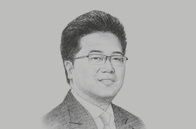 Sketch of <p>Michael Widjaja, Group CEO, Sinar Mas Land</p>