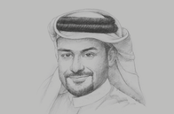 Sketch of <p>Yousuf Mohamed Al Jaida, CEO and Board Member, Qatar Financial Centre Authority</p>