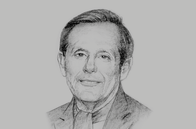 Sketch of <p>Lord Richard Risby of Haverhill, Special Envoy of the UK Prime Minister in Algeria</p>
