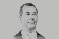 Sketch of <p>Dmitry Medvedev, Prime Minister of Russia</p>