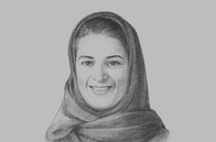 Sketch of <p>Sarah Al Suhaimi, Chair, Saudi Stock Exchange (Tadawul); and CEO, NCB Capital</p>