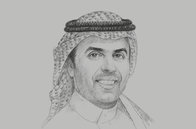 Sketch of <p>Ibrahim Al Omar, Governor, Saudi Arabian General Investment Authority (SAGIA)</p>