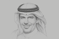 Sketch of <p>Nabeel Al Amudi, Minister of Transport</p>