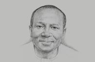 Sketch of <p>Ken Ofori-Atta, Minister of Finance</p>