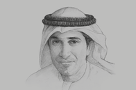 Sketch of <p>Abdulla Mohammed Al Basti, Secretary-General, Executive Council of Dubai</p>