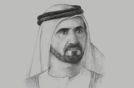 Sketch of <p>Sheikh Mohammed bin Rashid Al Maktoum, Vice-President and Prime Minister of the UAE, and Ruler of Dubai</p>
