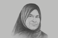 Sketch of <p>Raja Easa Al Gurg, President, Dubai Business Women Council (DBWC); and Managing Director, Al Gurg Group</p>