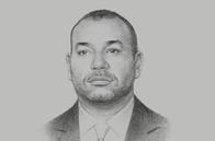Sketch of <p>His Majesty King Mohammed VI, on re-entry to the African Union (AU) </p>