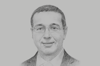 Sketch of <p>Mohamed Boussaid, Minister of Economy and Finance</p>