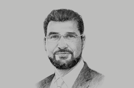 Sketch of <p>Khalid Al Kayed, CEO, Bank Nizwa</p>