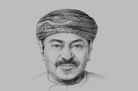 Sketch of <p>Abdul Razak Ali Issa, CEO, Bank Muscat</p>