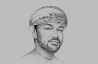 Sketch of <p>Tahir Salim Al Amri, Executive President, Central Bank of Oman (CBO)</p>