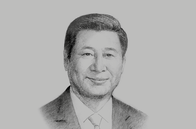 Sketch of <p>Xi Jinping, President, People's Republic of China</p>