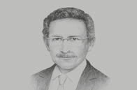 Sketch of <p>Tarik Tawfik, President, American Chamber of Commerce in Egypt</p>