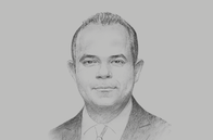 Sketch of <p>Mohamed Farid Saleh, Chairman, Egyptian Stock Exchange (EGX)</p>