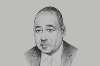 Sketch of <p>Prime Minister Amadou Gon Coulibaly, Minister of Budget and State Portfolio</p>