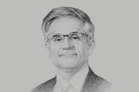 Sketch of <p>Mahmood H Alkooheji, CEO, Mumtalakat</p>