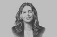 Sketch of <p>Najla M Al Shirawi, CEO, SICO</p>