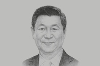 Sketch of <p>Xi Jinping, President of China</p>