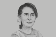 Sketch of <p>Daw Aung San Suu Kyi, State Counsellor of Myanmar</p>