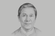 Sketch of <p>U Kyaw Win, Minister of Planning and Finance</p>