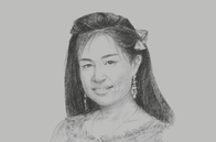 Sketch of <p>Daw Ei Phyusin Htay, Managing Director, Barons &amp; Fujikura EPC</p>