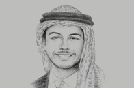 Sketch of <p>Crown Prince Hussein</p>