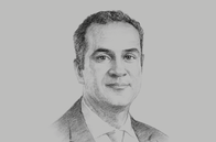 Sketch of <p>Walid Saibi, General Manager, Tunisie Valeurs</p>