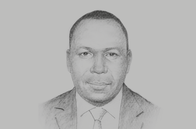 Sketch of <p>Charles John Tizeba, Minister of Agriculture</p>