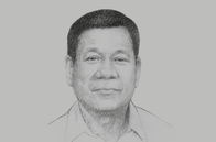 Sketch of <p>President Rodrigo Roa Duterte, on federalism, security, supporting overseas foreign workers (OFWs)</p>