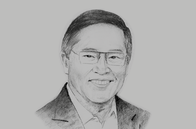 Sketch of <p>Carlos G Dominguez III, Secretary of Finance</p>