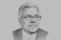 Sketch of <p>Ramon M Lopez, Secretary, Department of Trade and Industry (DTI)</p>